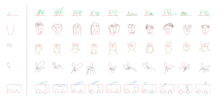 谷歌大脑教机器画简笔画,神经网络的大作都长啥样?